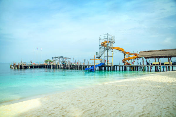 2 Water Slides at Rawa Island