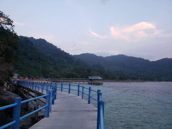 A Boardwalk To Marine Park From Air Batang Tioman