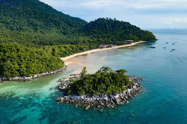 Bird's Eye View of Paya, Tioman Island