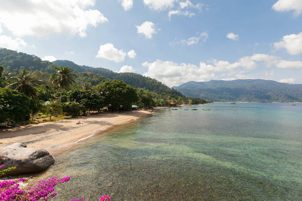 Air Batang Beach In Tioman Island
