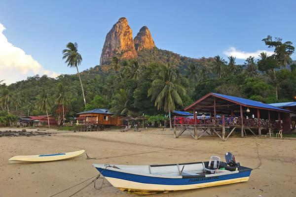 Beach Along Mukut Tioman Island