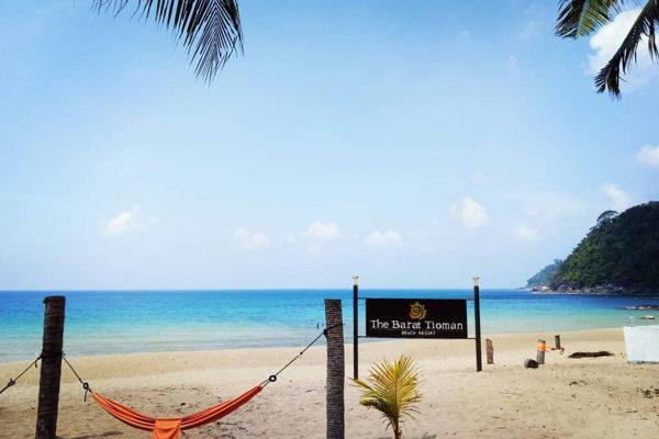 Beach In Front of Barat Tioman Beach Resort