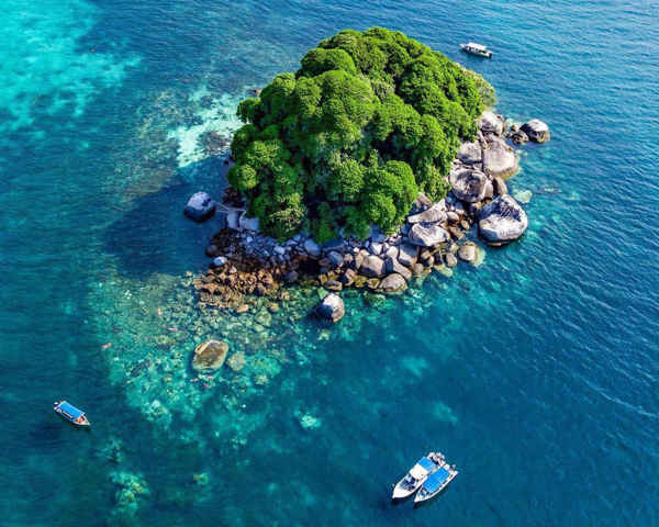 Bird's Eye View of Pulau Renggis at Tioman Island
