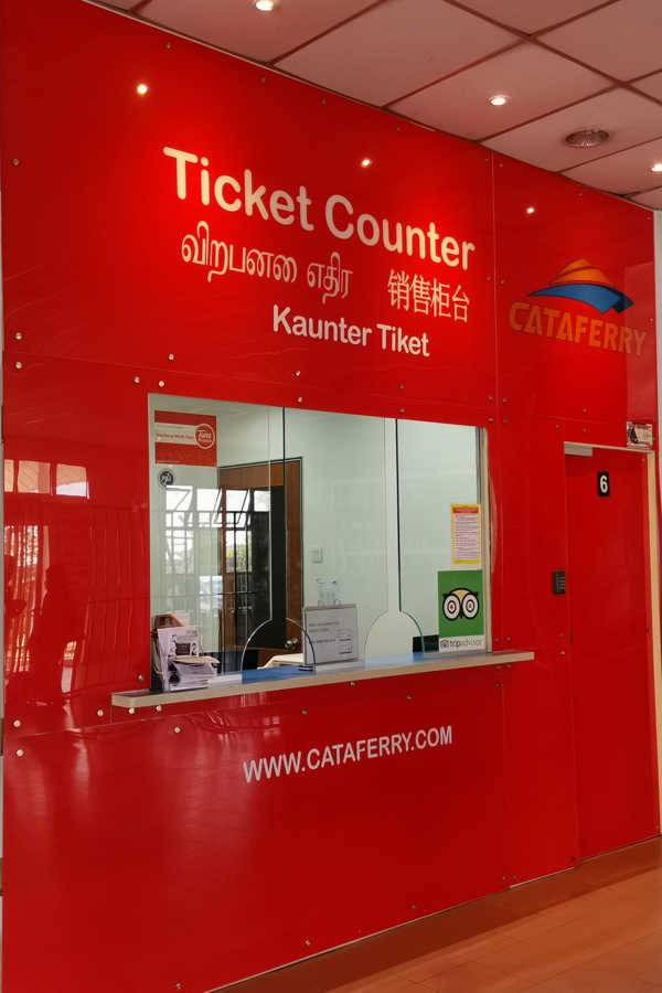 Cataferry Ferry Ticket Counter at Tanjung Gemok Jetty