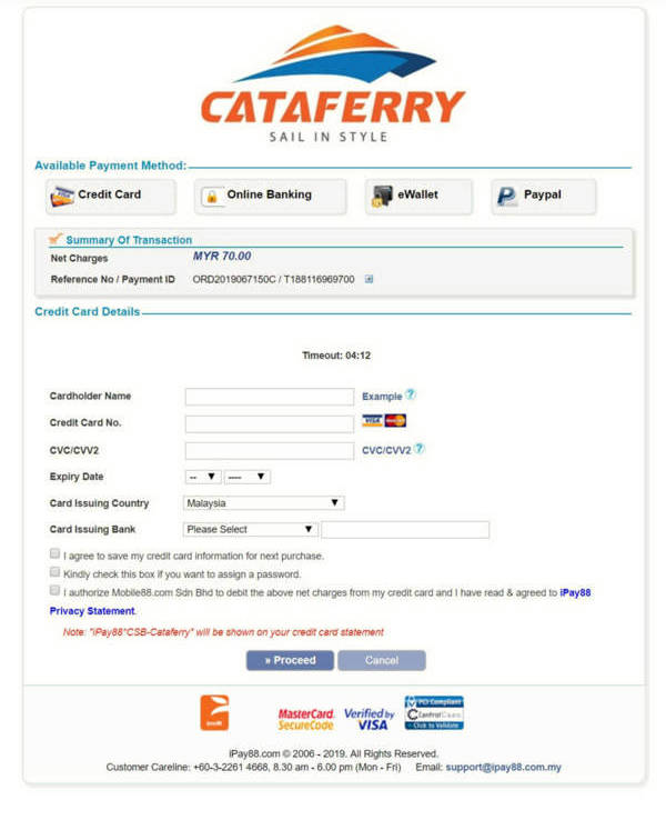 Cataferry Online Booking