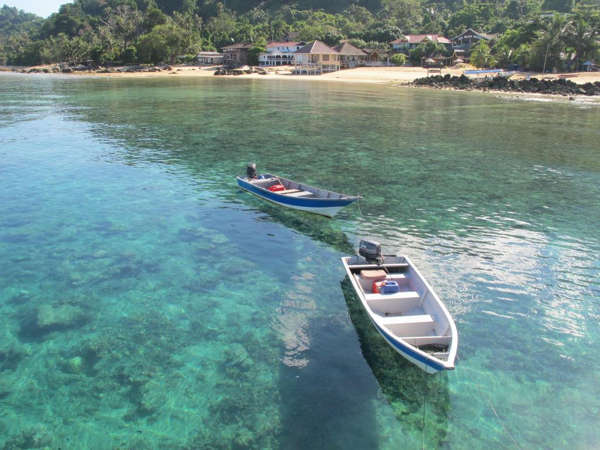 Clear Sea Water In Front Of Aguna Resort