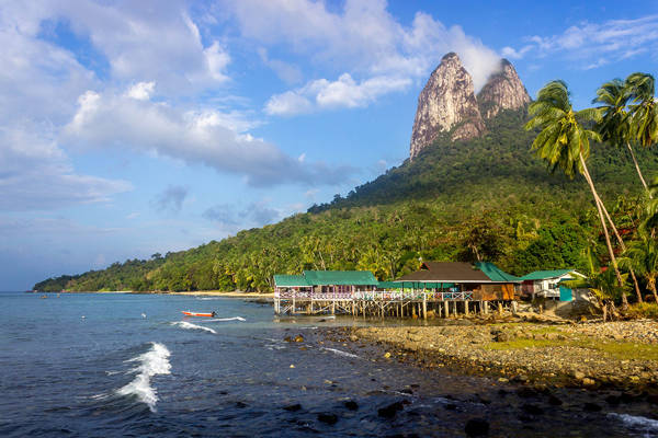 The view of Gunung Semukut from Mukut village