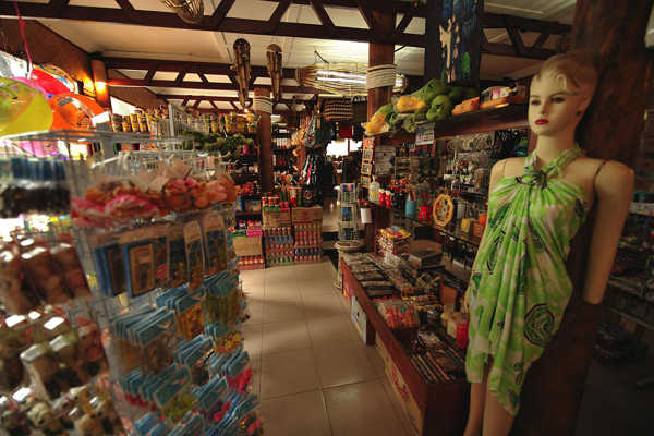Duty-free shop at Paya Beach Spa & Dive Resort