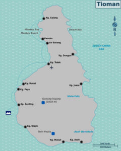 Ferry Route To Tioman Island Map