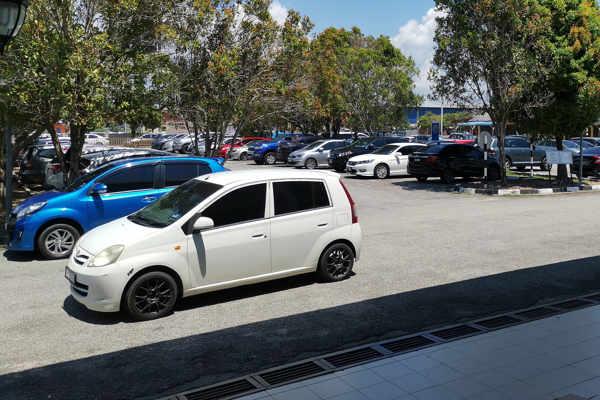 Gated Carpark at Tanjung Gemok Jetty