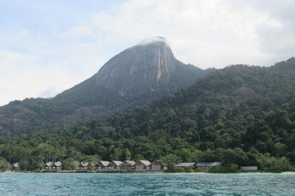 Gunung Kajang, the tallest mountain at Tioman Island.