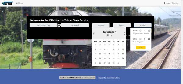 How To Buy KTM Train Ticket To JB Online Step 1