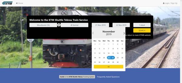 How To Buy KTM Train Ticket To JB Online Step 2