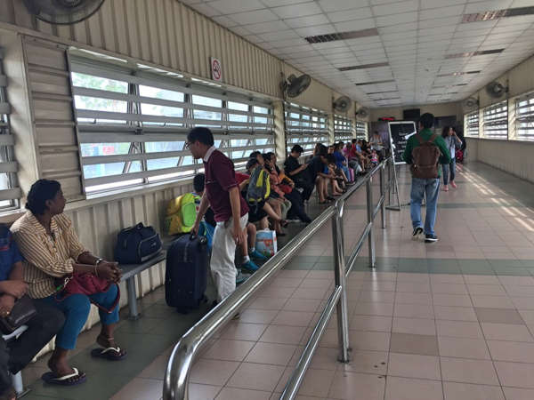 KTM Train Departure Gate At Woodlands Train Checkpoint