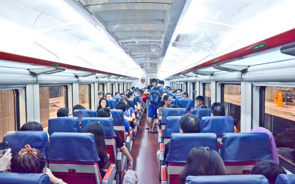 KTM Train Interior From Singapore To JB