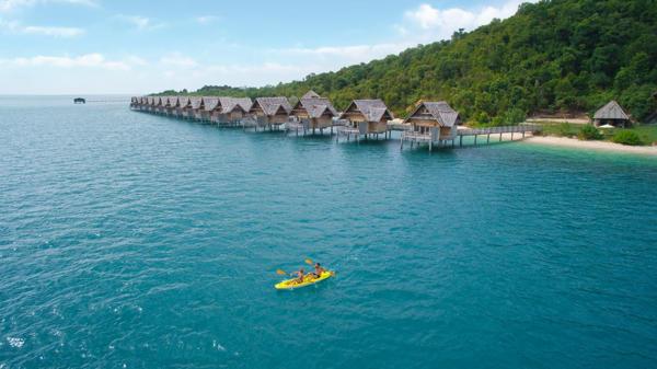 Kayaking At Telunas Private Island
