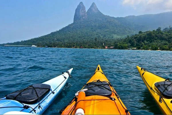 Kayaking at Tioman Island with Dragon Horns