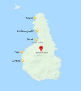 Location of Tioman Island Jetties