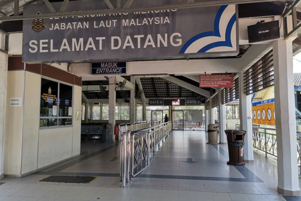 Arrival and Departure Point at Mersing Jetty Johor