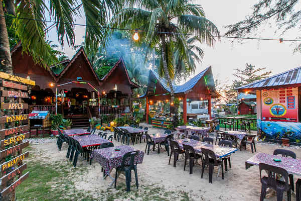 Outdoor Dining at Salang, Tioman Island