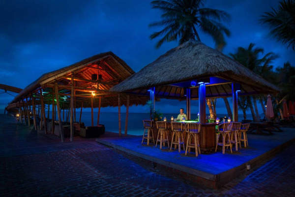 Partying The Night Away At The Beach Hut at Rawa Island
