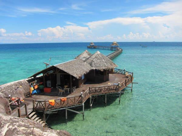 Pier at Bagus Place Retreat Tioman Island