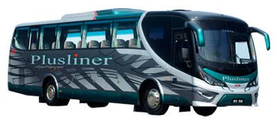 Plusliner Bus from Johor Bahru to Mersing or Tanjung Gemok Jetty