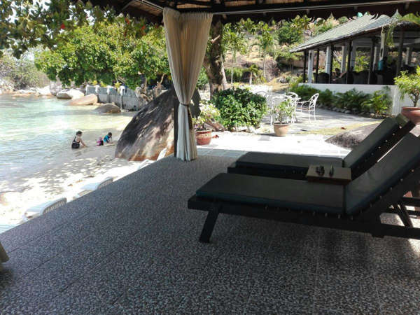 Private Beach In Front Of Minang Cove Resort