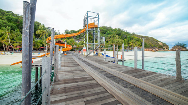 The Water Slider at Rawa Island Resort Included in Rawa Island Full Board Package