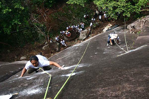 Rock Climbing At Nipah Tioman