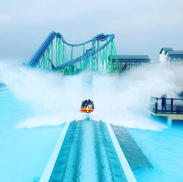 Roller Coaster At Adventure Waterpark Desaru Coast