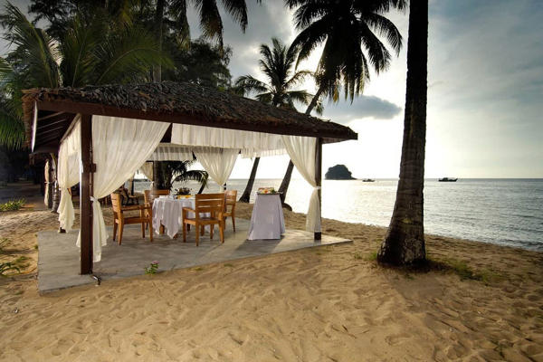 Romantic Beach Side Dinner Overlooking Beautiful Sunset at Berjaya Tioman Resort