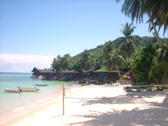 Beach and VolleyBall activities at Salang Indah Resort