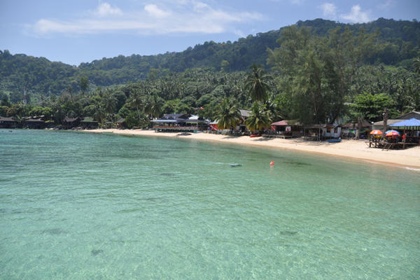 Salang Beach at Tioman Island