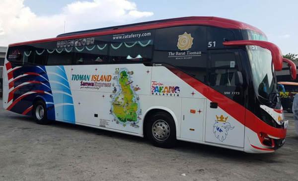 Sanwa Express Bus from KL to Tioman Island