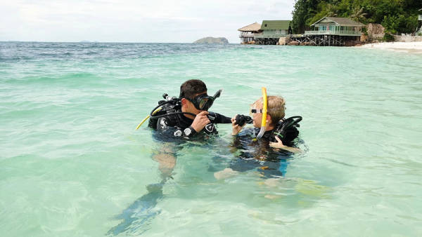 Scuba Diving At Rawa Island