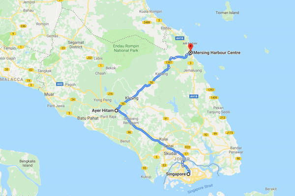 Self-Drive from Singapore to Mersing Route 2