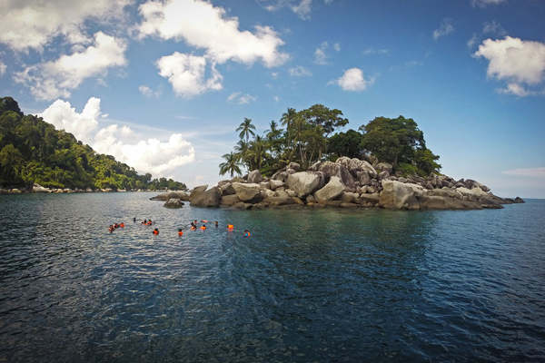 Snorkeling Near Pulau Soyak-A Small Rocky Island At Salang Bay