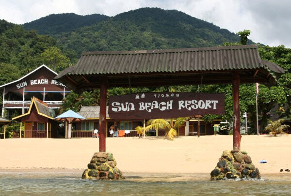 The front view of Sun Beach Resort - Tioman Island Snorkeling Package