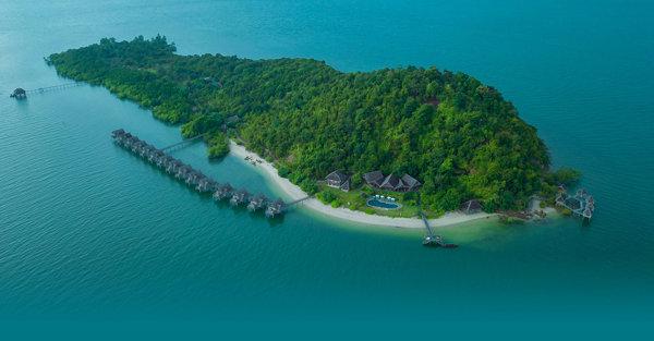 Telunas Private Island, Indonesia