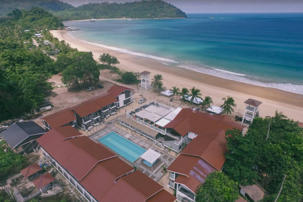 Top View of The Barat Tioman Beach Resort-Tioman Island Snorkeling Package