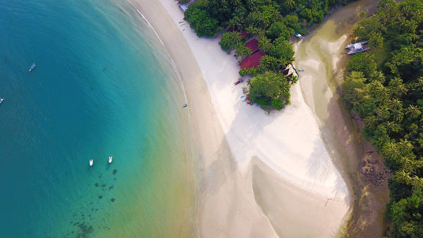 The Bird's Eye View of Juara Beach at Tioman Island