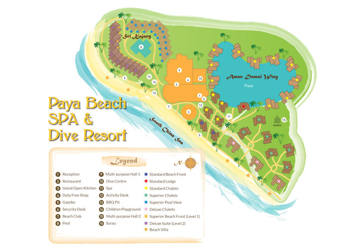 Paya Beach Resort - Map