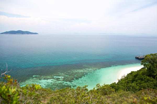The Panoramic Views of Rawa Island