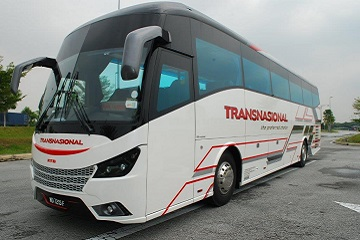 Transnasional Bus from Singapore to Mersing Jetty or Tanjung Gemok Jetty