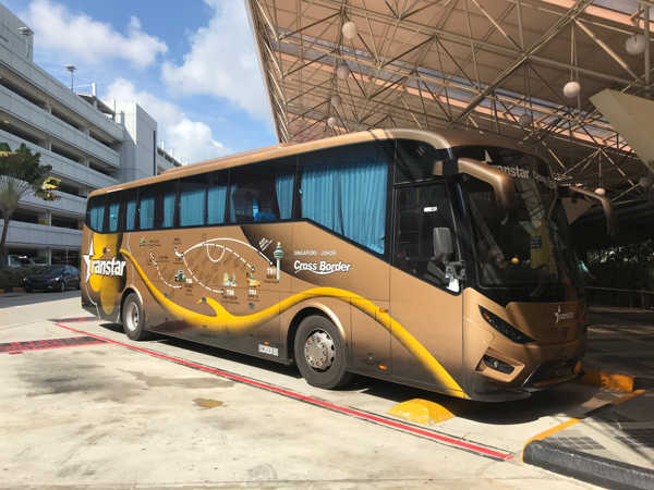 Transtar Travel Cross-border Bus At Changi Airport Terminal 2