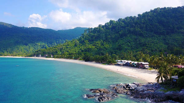 The View At The North Side of Juara Beach at Tioman Island