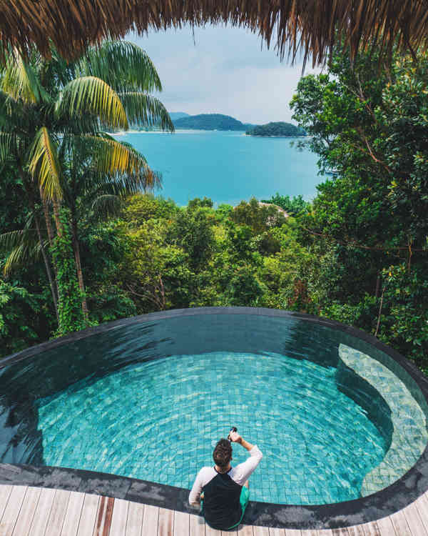 View From The Pool At Cempedak Private Island